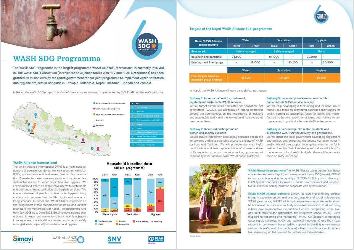 WASH SDG Nepal factsheet