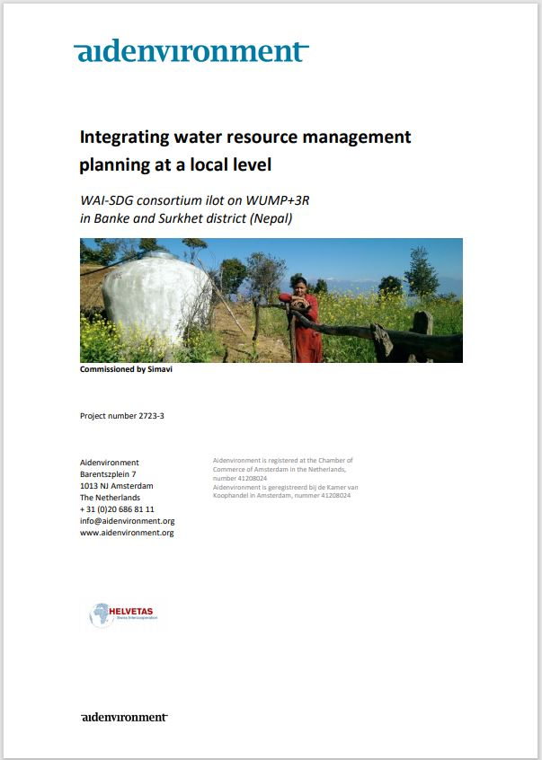 Integrating water resource management planning at a local level